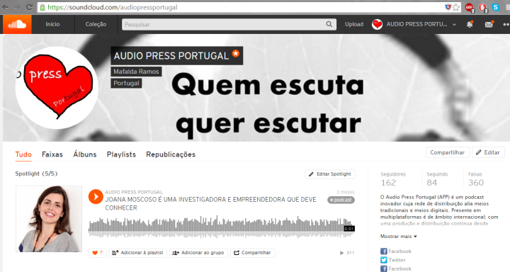 Imagem do Soundcloud a 04082016